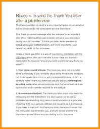 Follow Up After Job Interview Examples Of Thank You Letters After