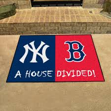 mlb house divided rivalry rug new york yankees boston red sox