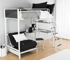 Folding Bunk Bed White Futon Bunk Bed Loft Bed Concept With Study Table And Folding