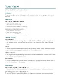 Microsoft Word Resume Templates Template Ideasagnificent Free For