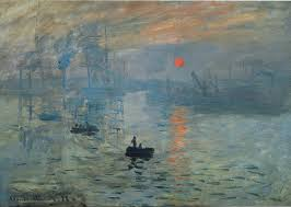 impression sunrise by claude monet painting print on canvas