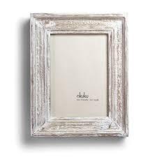 nu jaisalmer antique white wood frame 6 x 4