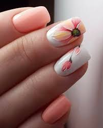 Light Pink And White Nail Designs