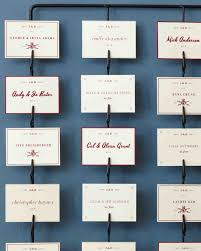insanely creative seating cards and displays martha stewart weddings Wedding Escort Cards And Table Numbers good things seating displays and table numbers DIY Wedding Table Cards