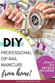 diy professional dip nail manicure