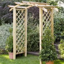 garden arch with planters forest garden genoa wooden arch