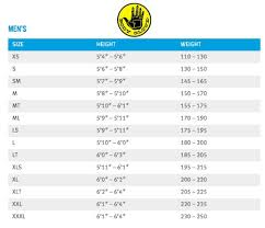 Body Glove Size Chart Body Glove Child Wetsuit Size Chart Images Gloves And