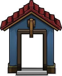 blue door house. Cozy Blue Door Sprite 004.png House