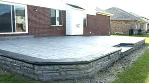 concrete patios raised concrete patio minimalist courtyard photo in ideas decorating flooring options stamped of pertaining concrete patios