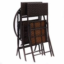 wicker folding chairs. GOPLUS 3PCS Wicker Rattan Outdoor Dinning Table Chair Set Patio Furniture Folding Backyard Ratten Garden For Home HW51711 Chairs