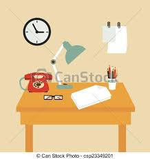 secretary desk clipart. Perfect Desk Secretary Desk Illustration And Clipart S