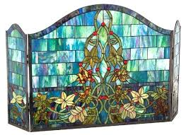 quoet stained glass fireplace screen m0290367 ocean ivy stained glass fireplace screens free stained glass fireplace