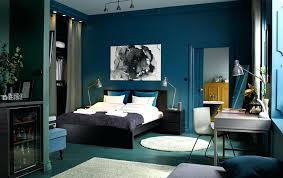 bedroom colors brown and blue. Bedroom Colors Brown A Medium Sized Furnished With Black Bed For Two Combined And Blue