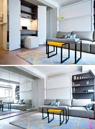 home office in a closet. Small Apartment Design Ideas - Create A Home Office In Closet // The Mirrored