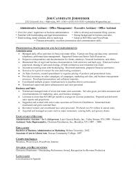Cover Letter Business Administration Resume Sample With