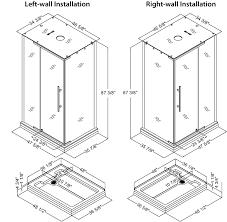 corner shower sizes standard. standards · dreamline jetted steam shower enclosure majestic corner sizes standard e