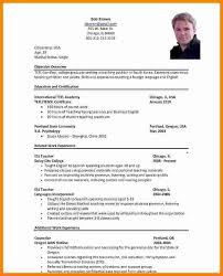 International Format Resume Cv In Usa Format International Format Resume Awesome