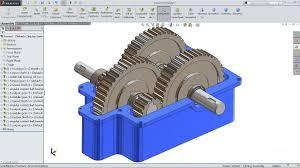 Speed Reduction Gearbox Design Solidworks Tutorial Sketch Gear Speed Reducer In Solidworks