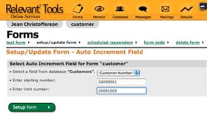 Relevant Tools Auto Increment Fields In Relevant Tools Web Forms New Increment Form
