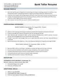 Bank Teller Resume Template Inspiration Bank Teller Resume Examples Entry Level Bank Teller Resume Bank