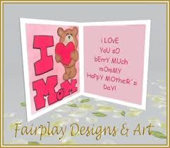 Mothers Greeting Card Second Life Marketplace Fda I Love You Berry Much Mothers Day