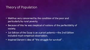 malthus theory theory of population • malthus