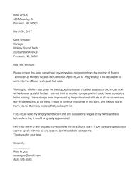 Job Resign Letter Best Resignation Examples Certificate
