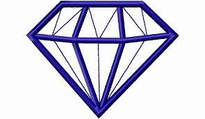 Diamond Designs Small Diamond Applique Machine Embroidery Design