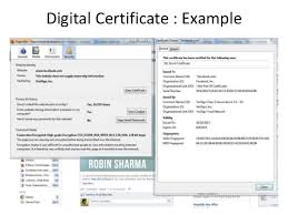 Digital Certificates And Information Security