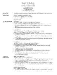 Music Teacher Resume Resume Format For Music Teacher Secondary
