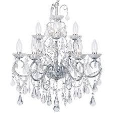 vara 9 light bathroom chandelier chrome