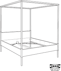 Download IKEA HEMNES 4 POSTER BED FRAME FULL DOUBLE Assembly