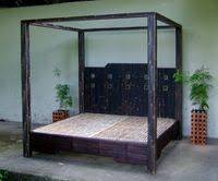 Black Bamboo Canopy bed - Artistry in Bamboo