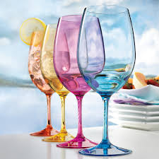 Best Dishwasher For Wine Glasses Indoor Outdoor Mixed Color Wine Glasses Set Of 4 Wine Enthusiast