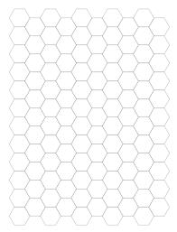 Large Hexagon Graph Paper Notebook Blue Green