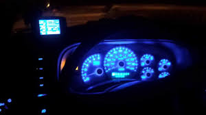2001 Chevy Silverado cluster blue led conversion - YouTube