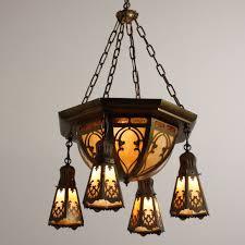 large antique brass six light chandelier with original slag glass early 1900s preservation station nashville tn