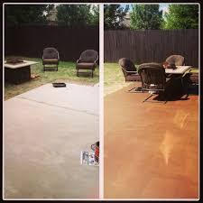 diy stain concrete