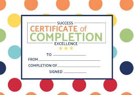 Templates For Certificates Certificate Of Completion Templates Customize In Seconds