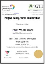 diploma of project management gti international  only for your 1st course gti