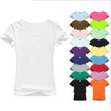 <b>High Quality</b> Mixed Colors <b>S XXL Plain</b> Blank T Shirt Women Cotton ...