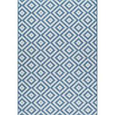 marybelle tribal diamond trellis rug blue outdoor 7 ft 6 in x 10 ft