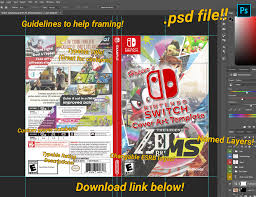 Nintendo Switch Cover Template Psd File