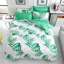 light blue duvet cover bedding sets cartoon bed sheets printing cactus single