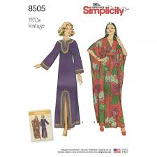 Simplicity Patterns Vintage Impressive Simplicity Pattern 48 Misses' Vintage Caftans Sewing Patterns