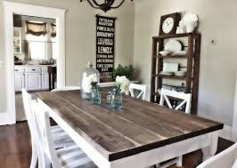 rustic country dining room ideas. Wooden Homemade Table For English Country Dining Room Ideas With White Chairs And Neutral Wall Color Rustic I