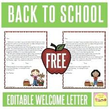 Welcome Back To School Letter Templates Back To School Letter Template School Trip Letter To Parents