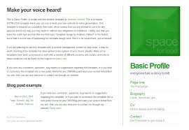 basic profile screenshot com basic profile template default style