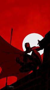 Batman Dark Red HD 4K Wallpaper #6.2719