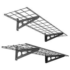 fleximounts wall shelf garage storage rack 2 pack black 12 x 48